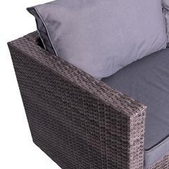 Cyrus 4-Piece Cushioned Compact Outdoor/Indoor Patio Garden Wicker Rattan Sectional Sofa Set