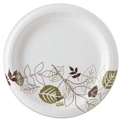 "Pathways Soak Proof Shield Heavyweight Paper Plates, WiseSize, 8 1/2"", 500/Ctn"
