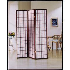 Naomi 3-Panel Room Divider, Cherry