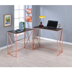 Deona 2Pc Pack Desk Set, Weathered Dark Gray & Rose Copper