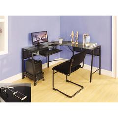 Brielle Computer Desk, Black