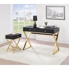 Coleen Desk, Black & Brass