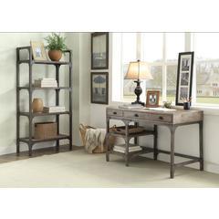 Gorden Desk, Weathered Oak & Antique Silver