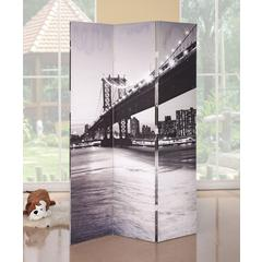 Trudy 3-Panel Room Divider, Bridge Scenery