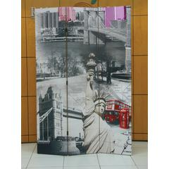 Trudy 3-Panel Room Divider, Scenery
