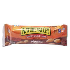 NATURE VALLEY Nature Valley Granola Bars, Sweet & Salty Nut Almond Cereal, 1.2oz Bar, 16/Box