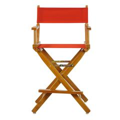 """24"""" Director's Chair Honey Oak Frame-Red Canvas"""