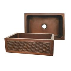 Whitehaus Collection WH3020COFCBW-OBS Copperhaus Sinks Smooth Bronze