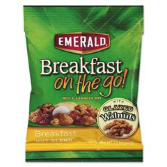 Emerald Breakfast on the go, Breakfast Nut Blend, 1.5oz Bag, 8/Box