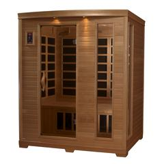 "Golden Designs ""Grand Series"" 3-person Low EMF Far Infrared Sauna Canadian Hemlock"
