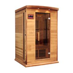 Maxxus 2 Per Low EMF FAR Infrared Carbon Canadian Hemlock Sauna