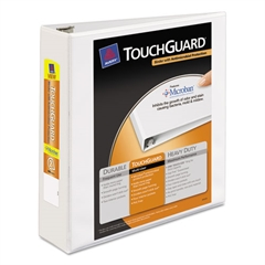"Avery Touchguard Antimicrobial View Binder w/Slant Rings, 2"" Cap, White"