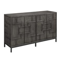 Four Door Credenza, Grey