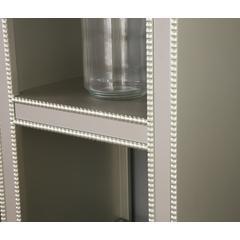 Mirrored Bookcase, Elsinore Champagne
