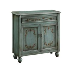 "One Drawer Two Door Cabinet H34.00"", Teal Blue"
