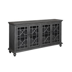 Four Door Media Credenza, Grey