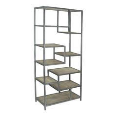 Tall Bookcase, Silver