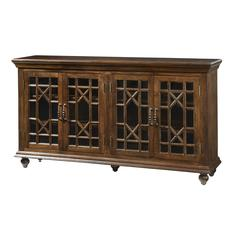 Four Door Credenza, Brown