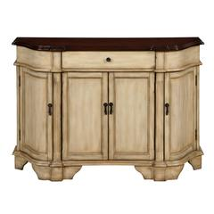 Four Door One Drawer Credenza, Derry Burnished Cream