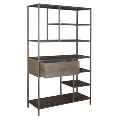 One Drawer Bookcase, Grey