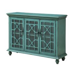 Three Door Media Credenza, Blue