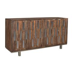 Brownstone Four Door Credenza, Brown