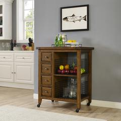 Sienna Kitchen Cart In Moroccan Pine