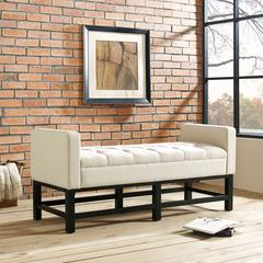 Claremont Upholstered Bench In Crème