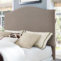 Bellingham Camelback Upholstered Full/Queen Headboard In Oatmeal Linen