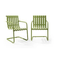 Gracie Stainless Steel Chair - Green 2Pc/1Carton
