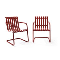 Gracie Stainless Steel Chair - Red 2Pc/1Carton