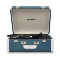 Portfolio Portable Turntable With Bluetooth Turquoise/White
