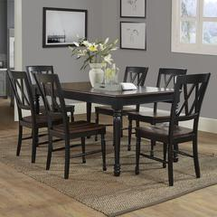 Shelby 7Pc Dining Set In Black Finish