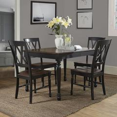 Shelby 5Pc Dining Set In Black Finish