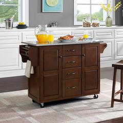 Eleanor Stainless Steel Top Kitchen Cart