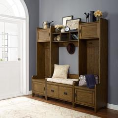 Fremont 4 Pc Entryway Kit - Two Towers, Bench, Shelf In Coffee