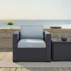 Biscayne Armchair With Mist Cushions
