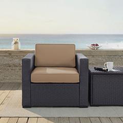 Biscayne Armchair With Mocha Cushions