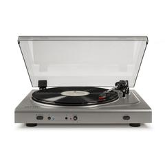Turntable In Silver With Charcoal Lid