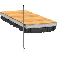 Pre-Built Aluminum Floating Dock with Wood Top - 4'x10'