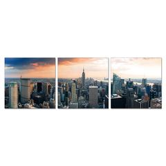 SeniA Wall Mounted Triptych Photography Prints, Empire State City View, Set of Three
