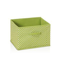 Laci Small Dot Design Non-Woven Fabric Soft Storage Organizer, Green