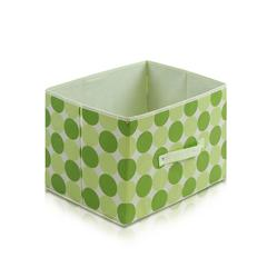 Laci  Dot Design Non-Woven Fabric Soft Storage Organizer, Green