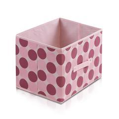 Laci  Dot Design Non-Woven Fabric Soft Storage Organizer, Pink