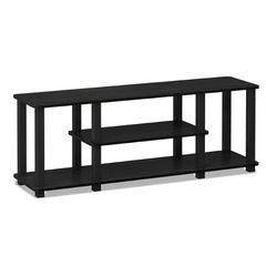 Turn-S-Tube No Tools 3D 3-Tier Entertainment TV Stands with Square Tube, Americano/Black