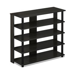 Turn-N-Tube 5 Tier Wide Shoe Rack, Espresso/Black
