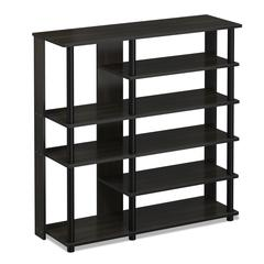 Turn-N-Tube Multi Storage Shoe Rack, Espresso/Black