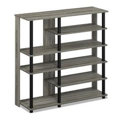 Turn-N-Tube Multi Storage Shoe Rack, French Oak Grey/Black