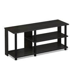 Turn-N-Tube Compact Multi Storage Shoe Rack, Espresso/Black