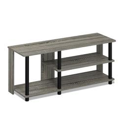 Turn-N-Tube Compact Multi Storage Shoe Rack, French Oak Grey/Black
